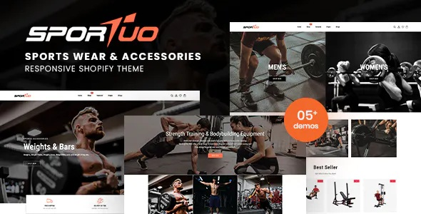 Best Sports Wear & Accessories Responsive Shopify Theme