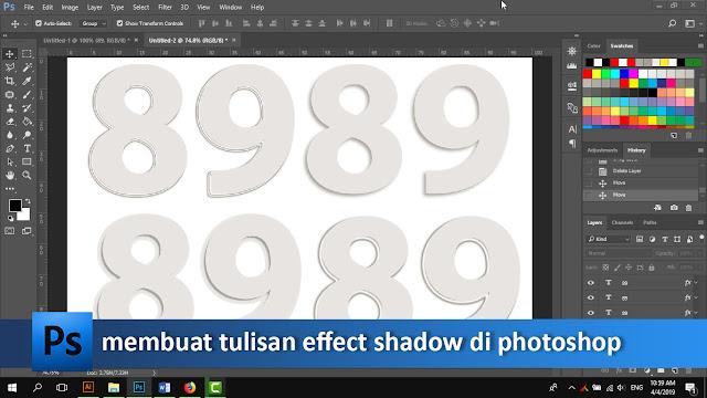 Mudahnya membuat efek shadow di photoshop + video