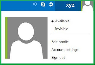 Hotmail account setting option