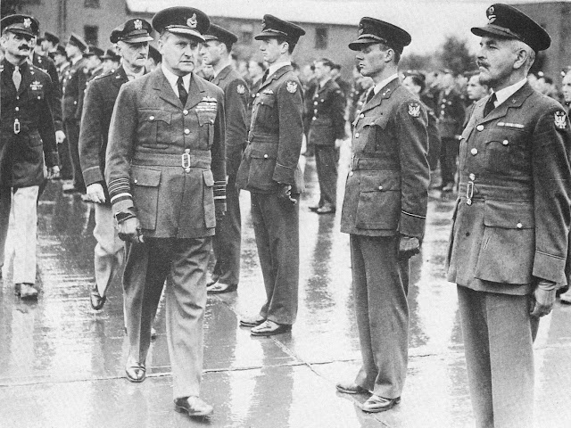 Air Marshal Sholto Douglas reviews the troops worldwartwo.filminspector.com