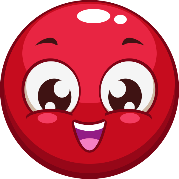 Cheerful Red Smiley