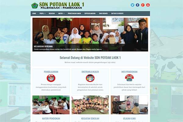 Website Sekolah SDN Potoan Laok 1 Palengaan