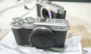Service Fujifilm X-A2 LCD tidak tampil / Putih polos