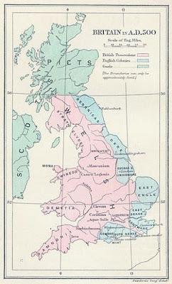 mapa de la Britania posromana