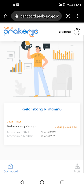 27 April 2020 Pendaftaran kartu Prakerja Gelombang III