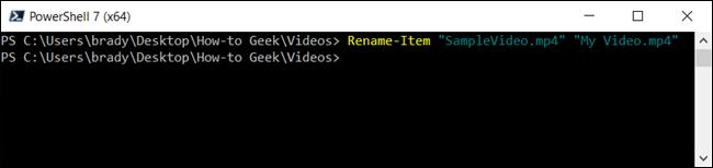 اكتب الأمر cmdlet في نافذة PwoerShell واضغط على Enter لتشغيل الأمر.