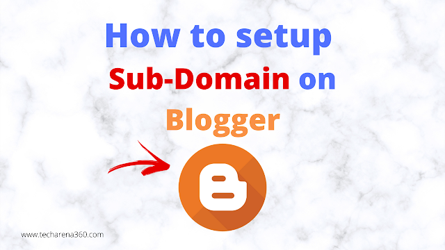 How to create/setup sub-domain in Blogger