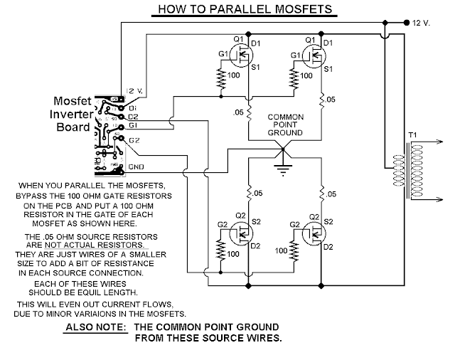 parallel MOSFETs