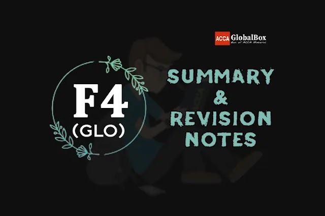 F4 (LW-GLOBAL) | Summary + Revision Notes | Corporate and Business Law | ACCA