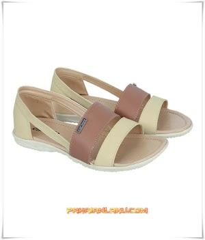 Sandal Casual Wanita Warna Cream
