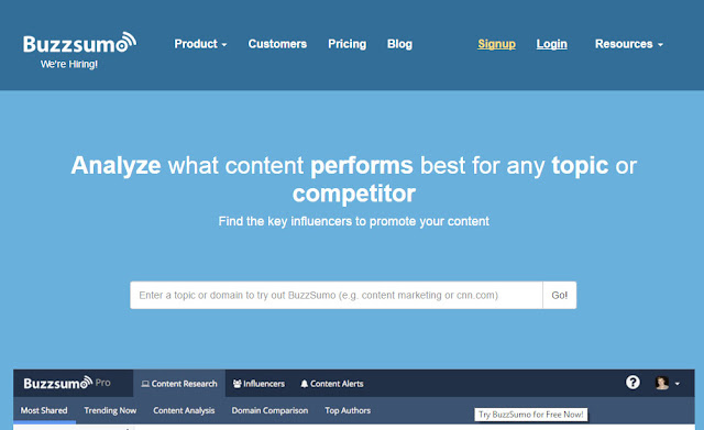third keyword research tool used by marketing expert buzzsumo