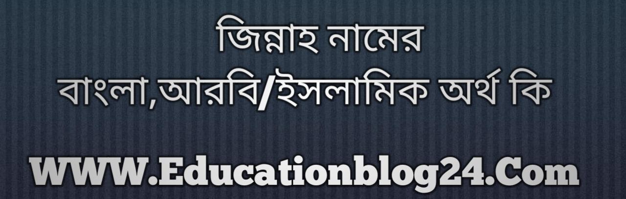 Jinnah name meaning in Bengali, জিন্নাহ নামের অর্থ কি, জিন্নাহ নামের বাংলা অর্থ কি, জিন্নাহ নামের ইসলামিক অর্থ কি, জিন্নাহ কি ইসলামিক /আরবি নাম