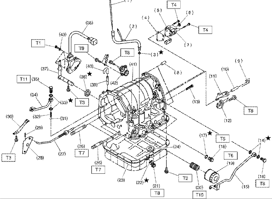 Subaru Transmission Parts Diagram
