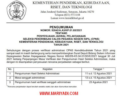 Pengumuman Seleksi Administrasi PPPK Guru Kabupaten Ngawi