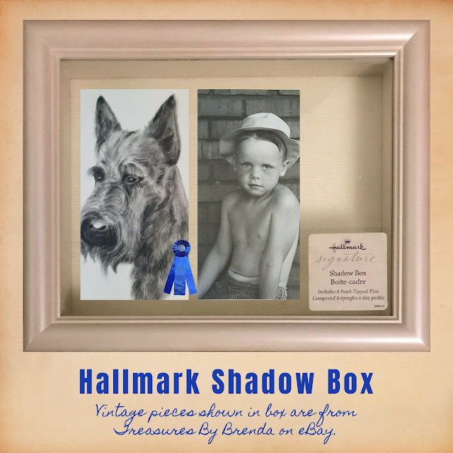 This Hallmark Shadow Box is filled with treasures from Treasures By Brenda on eBay but your mom can of course personalize it with her own momentos!
