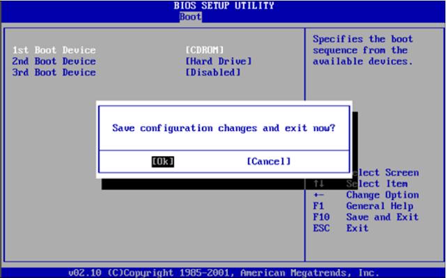 BIOS Settings to Format Windows 10