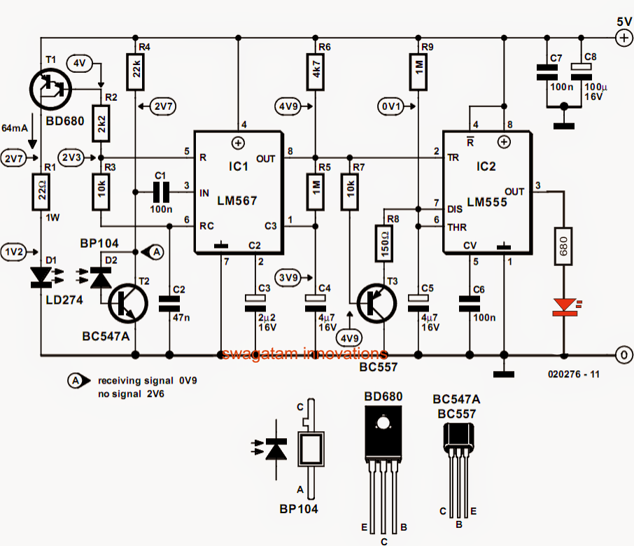 Bird in the Nest Indicator Circuit ~ Electronic Circuit