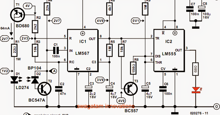 Bird in the Nest Indicator Circuit ~ Electronic Circuit