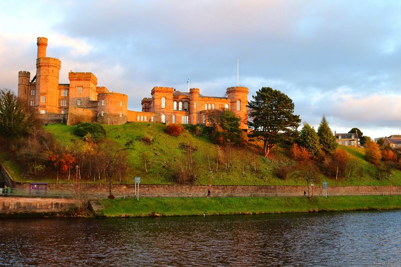 Inverness Castle in Scotland