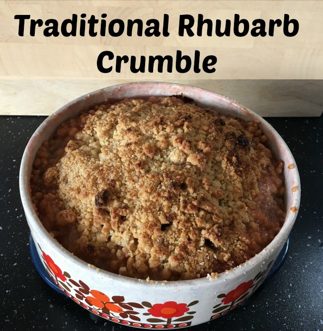 Traditional-Rhubarb-crumble-recipe-text-on-picture