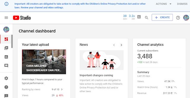 Peraturan baru youtube untuk kategaori anak-anak