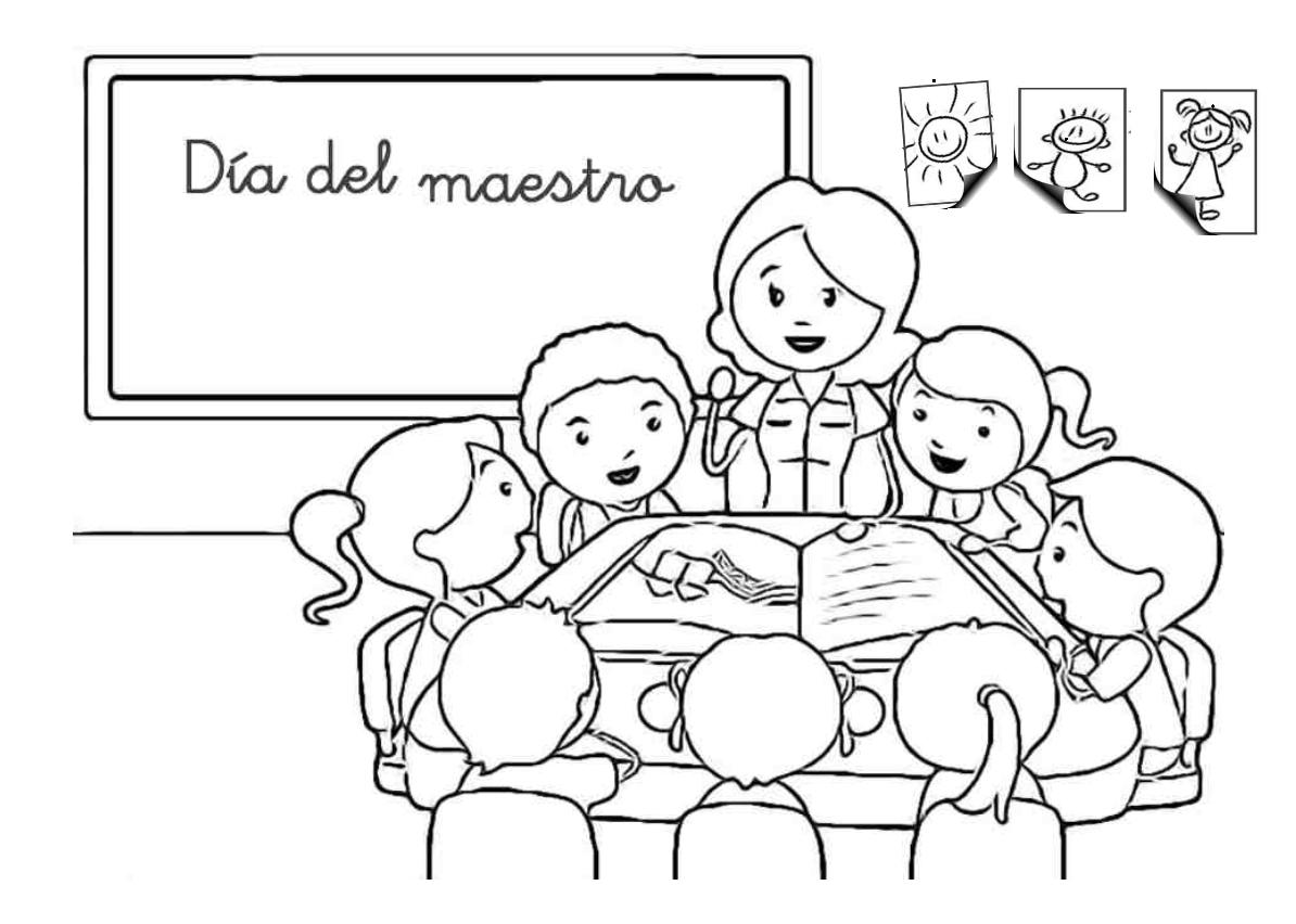 Colorear Dibujos Maestra De Escuela Dibujos Colorear