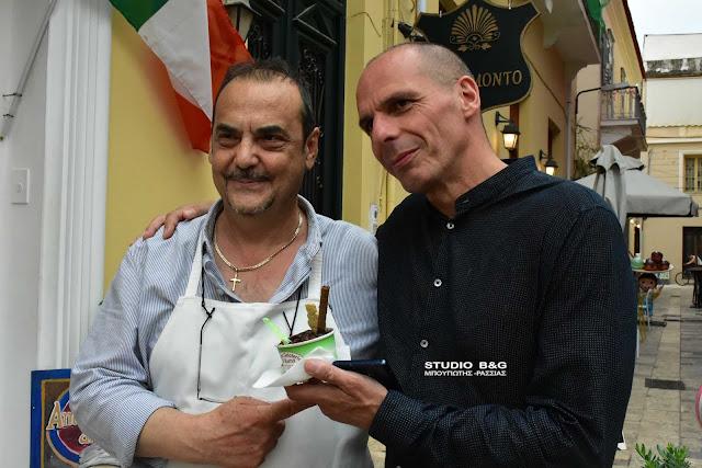 Ο Βαρουφάκης βρήκε τον... Ιταλό του στο Ναύπλιο (βίντεο)