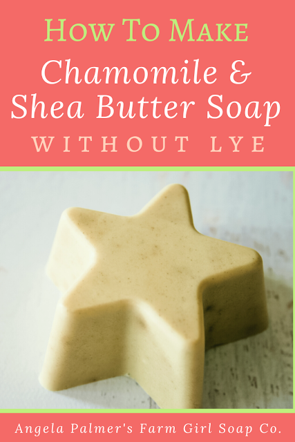 Learn how to make soap without lye with this awesomely easy Chamomile Shea Butter Soap Recipe. It's the perfect handmade soap recipe for beginners, and takes just 15 minutes to whip up!