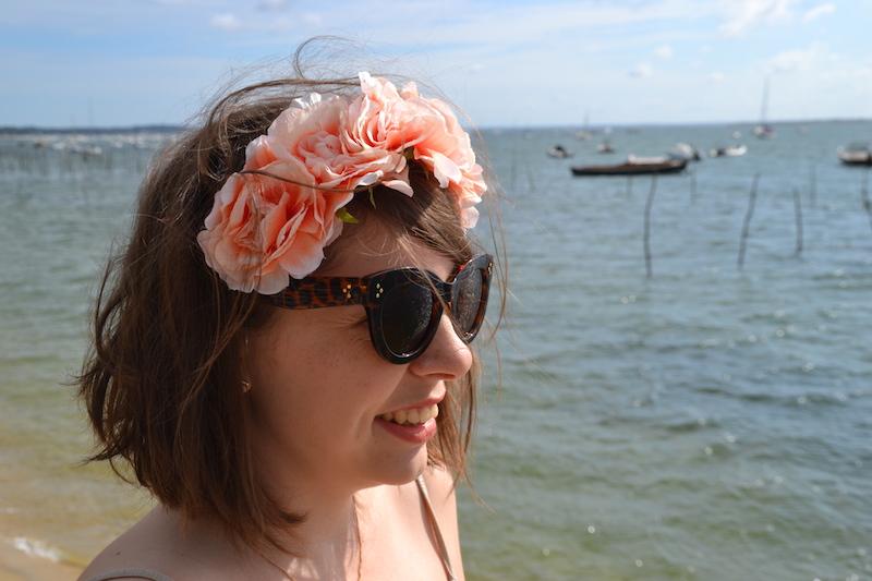 couronne de fleurs forever21 et lunette aliexpress