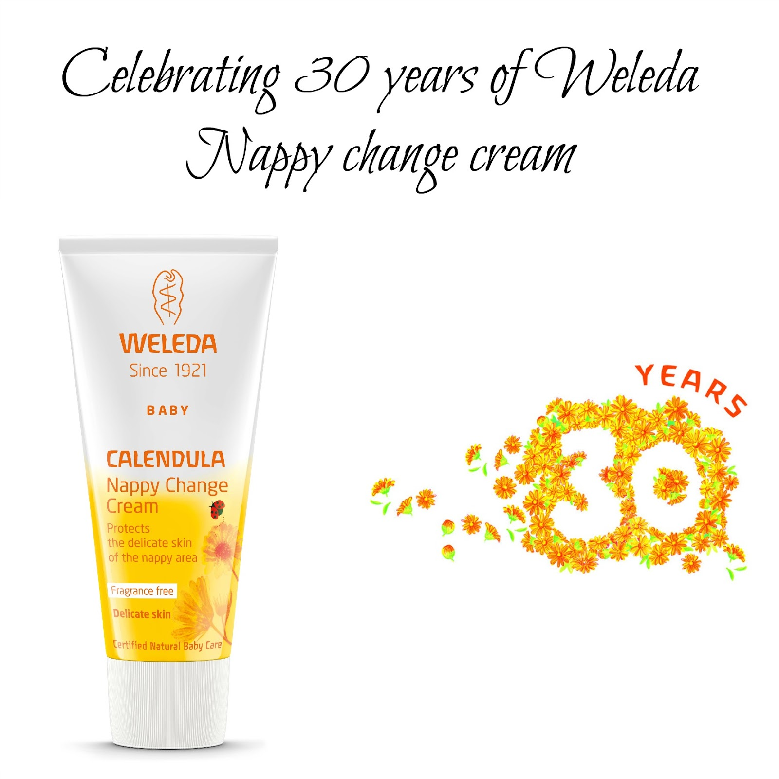 Celebrating 30 years of Weleda Nappy change cream
