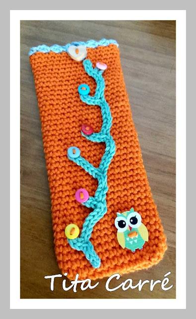Case para celular em crochet