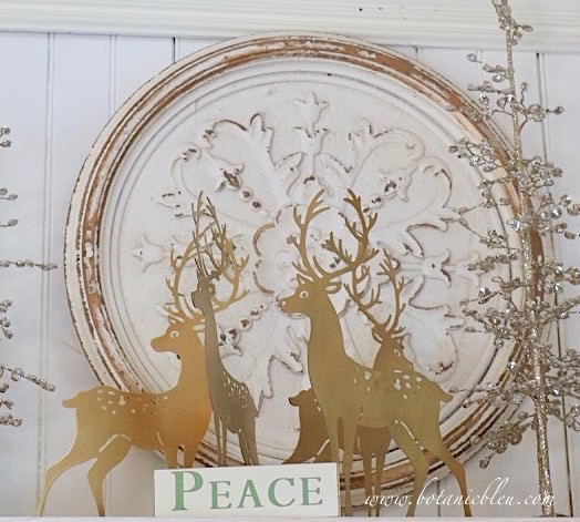 A herd of gold metal deer show how NOT to shop at this year'sFrench Country Christmas Event