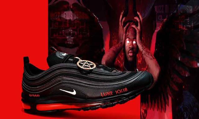"""Lil Nas X fait polémique avec ses """"Satan Shoes""""… incrustées d'une vraie goutte de sang"""