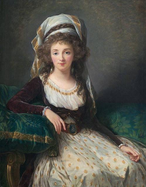 Louise-Elisabeth Vigee Lebrun (1755-1842) - Портрет мадам д'Агессо де Френ