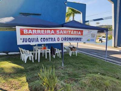 JUQUIÁ ORGANIZA BARREIRA SANITÁRIA