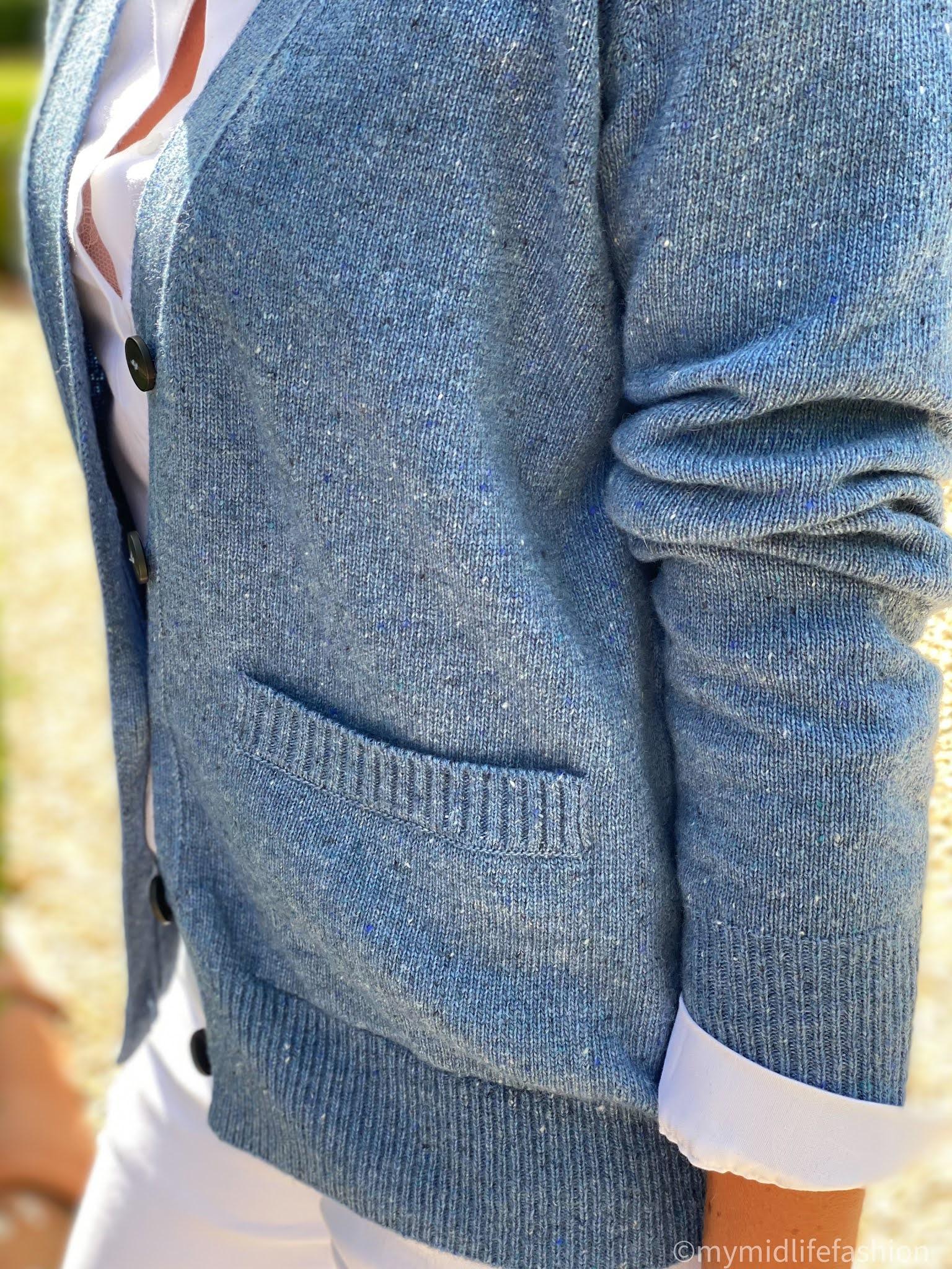 my midlife fashion, Baukjen jody recycled wool cardigan