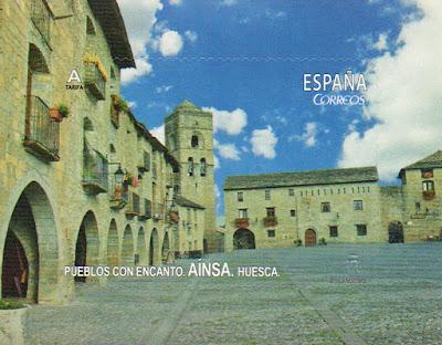 sello, filatelia, Ainsa, Huesca