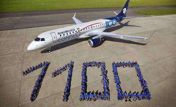 La eronave que recibió Aeroméxico, modelo E190, es también el avión de número 200 de la familia de E-Jets volando en Latino-América. (Foto: Embraer)