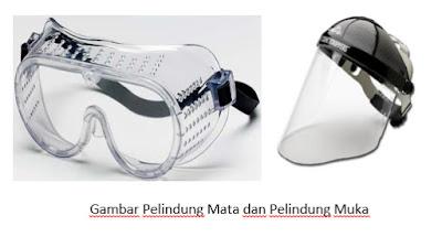 Alat Pelindung Mata dan Pelindung Wajah  K3