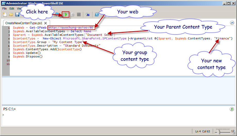 Share knowledge sharepoint: How to create Content type