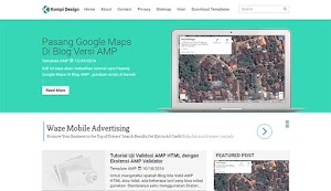 Free Blogger Template With AMP - Kompi Design