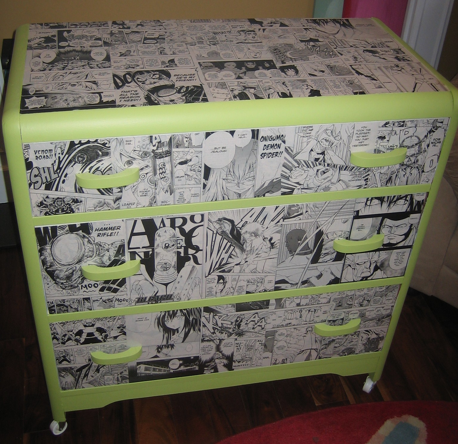 nickety nackety noo manga dresser. Black Bedroom Furniture Sets. Home Design Ideas