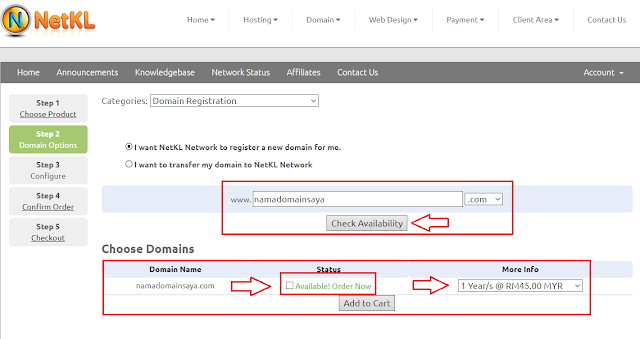 Cara Mudah Dan Lengkap Beli Domain Dot Com Di NetKL