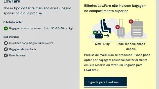 Companhias aéreas passam a cobrar até bagagem de mão