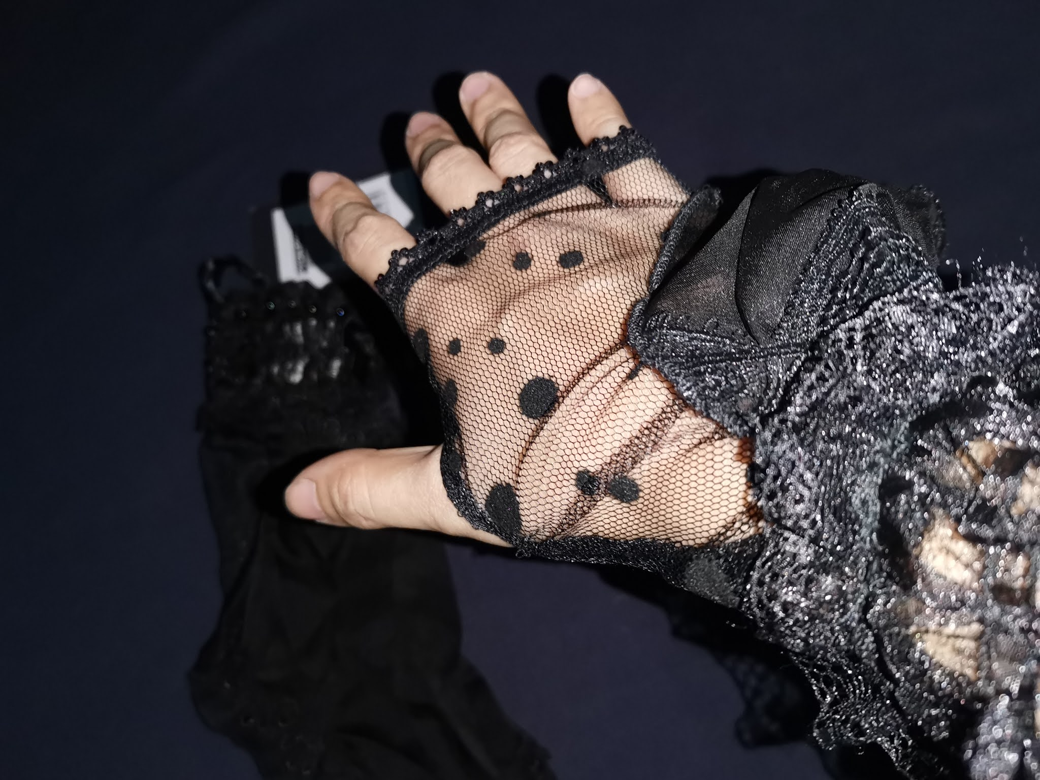 Punk Rave Black Gothic Lolita Gloves