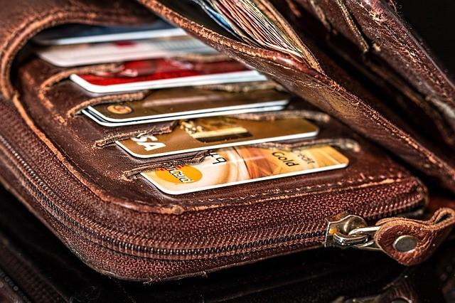 foto cartera con tarjetas de crédito