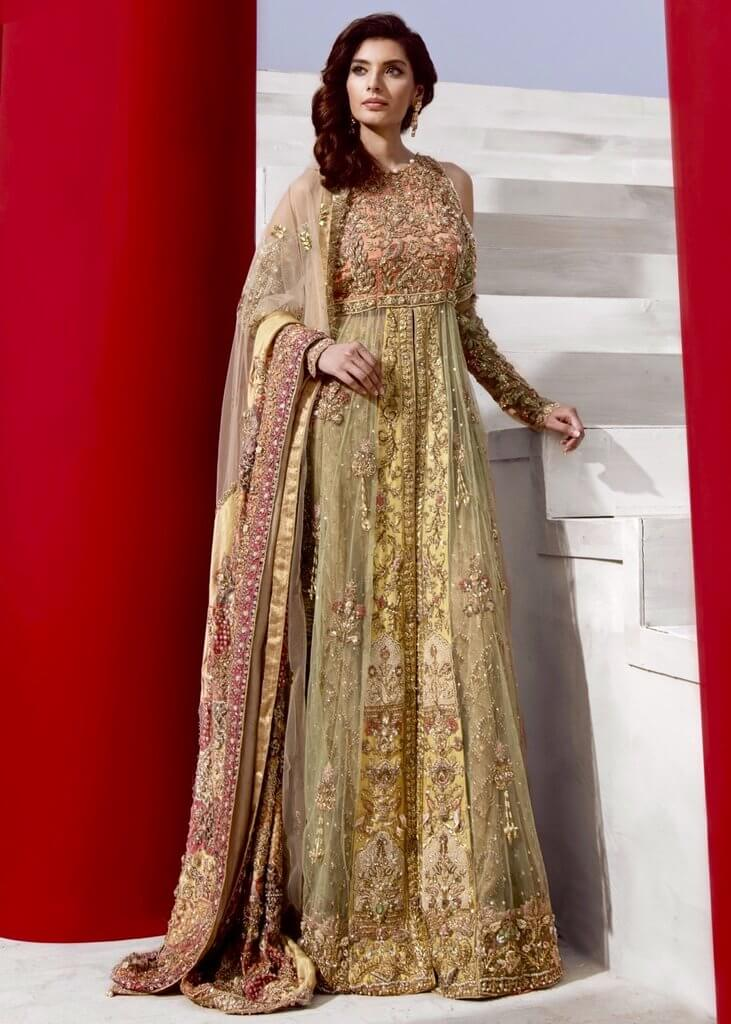 Front Open Bridal Gown for Pakistani and Indian Weddings