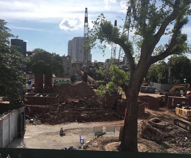 Tiên độ thi công xây dựng dự án chung cư Sun Grand City Bến xe Lương Yên