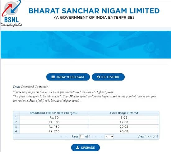 How to increase FTTH BSNL Broadband speed after FUP limit? Detailed Report
