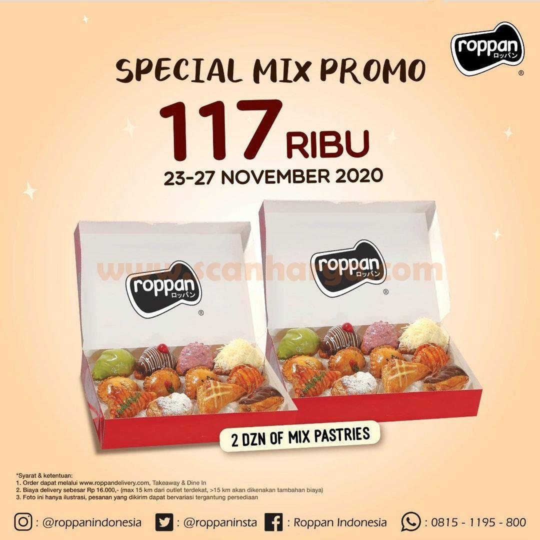 Roppan Promo Special Mix: 2 Dozen of mix Pastries harga hanya Rp 117.000